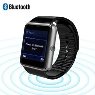VALLEN Water Resistant Smart Watch Anti Lost and Handfree for Android 4.2 or above and Iphone 5s/6/6s/7/7s [2017 New Version] (Black)