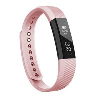 Fitness Tracker, LOLG Smart Band Activity Health Tracker with Waterproof Touch Screen for Step Distance Calories track, Sleep monitor, pedometer and more,Black/Purple (PINK)
