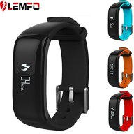 LEMFO P1 Bluetooth Waterproof Fitness Tracker with Heart Rate Monitor and Blood Pressure Sports Smart Wristband Pedometer Smart Bracelet Call Reminder Smart Band For Android iOS (Black)
