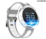 X-CHENG Fitness Tracker- Activity Monitor and Sleeping Management – Heart rate monitor Blood pressure Tracker Pedometer with IP67 Waterproof OLED Touch Screen – for Android and iOS (Gray)