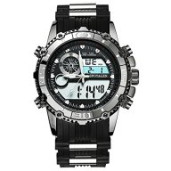 SPOTALEN Men's Digital Sports Watches, Military Multi-functional Black Waterproof Wrist Watches with LED