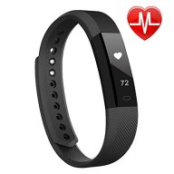LINTELEK Heart Rate Monitor Activity Tracker and Sleep Monitor Pedometer Calories Track Smart Fitness Tracker Sports Wristband Watch Bracelet Bluetooth for Android IOS