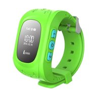 Smart Watch GPS Tracker Watch Anti Lost SOS Smart Mobile Phone Wristband for Kid Green