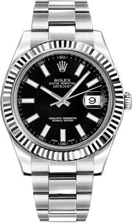 Rolex Datejust II 41 116334 Black Dial Men's Luxury Watch