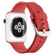 Apple Watch Sport Band 38mm, UMTELE Soft Silicone Replacement iWatch Bands Sport Strap with Buckle Clasp for Apple Watch Sport, Series 2, Series 1, Red
