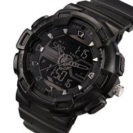 Misskt Mens Military Sport Watch Fashion Men Watch LED Display Water Resistant Black