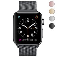 OROBAY Apple Watch Band 38mm 42mm, Stainless Steel Milanese Mesh Loop Magnetic Closure Clasp Apple Watch Wristband Strap for Apple iWatch Sports&Edition