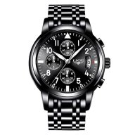 Men Business Watch Chronograph Clock Brand Luxury Fashion Casual Sport Waterproof Quartz Wristwatch