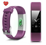 Fitness Tracker NewYouDirect Heart Rate Monitor Pedometer Activity Tracker Smart Watch Smart WristBand with Sleep Monitor Calorie/Step Counter Bluetooth 4.0 for Android IOS(Purple)