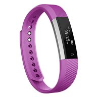 Fitness Tracker, MoreFit Slim Touch Screen Activity Health Tracker Wearable Pedometer Smart Wristband, Silver/Purple