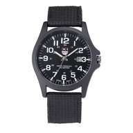 YANG-YI Outdoor Date Stainless Steel Military Sports Analog Quartz Army Waterproof Wrist Watch Mens (Black)