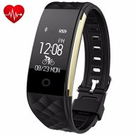 Fitness Tracker,Juboury Heart Rate Activity Trakcer Touch Screen Wearable Pedometer Bluetooth Smart Wristand with Sleep Monitor,Steps Counter,Calories Track for Android and IOS Smart Phones(Black)