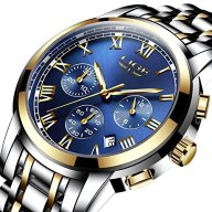 FOVICN Men's Quartz Stainless Steel Watch, Color:Gold-Toned (Model: DS13)
