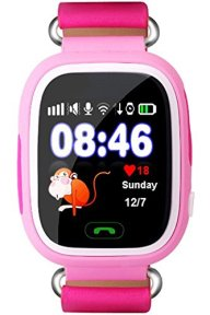 Kids Bluetooth Smart Watch GPS Anti-lost Remote Wrist Watches For Girls Pink