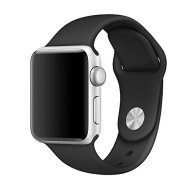 Zyra Sport Band for Apple Watch 42mm M/L, Soft Silicone Strap Replacement iWatch Bands for Apple Watch Sport, Series 3, Series 2, Series 1 BLACK