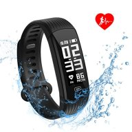 Fitness Tracker, Hizek Activity Tracker with Heart Rate Monitor Wireless IP67 Waterproof Smart Wristand Pedometer Bracelet with Sleep Monitor/ Step Counter/ Calories Track for Android and iOS