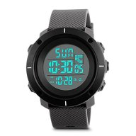 Aposon Men's Military Digital Sport Watch LED Back Light Simple Watches Casual Outdoor Waterproof Electronic Stopwatch Alarm Army Wrist Watch – Grey Band