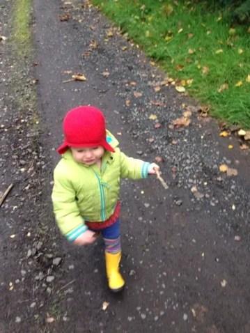 toddler running