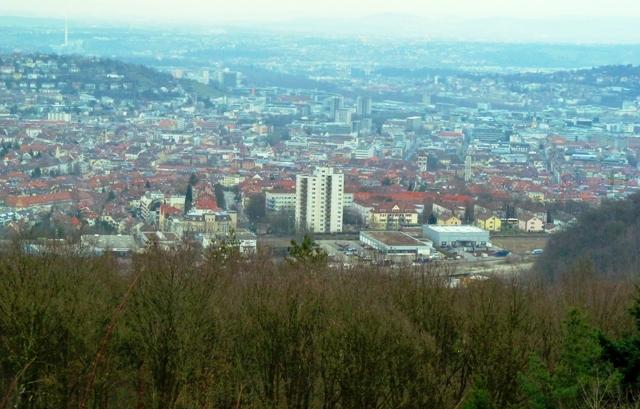 View from Birkenkopf Stuttgart, Germany