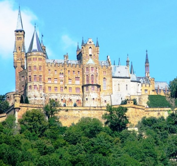 Hohenzollern castle in Baden-Württemberg is one of my favorite castles in Germany that you can hike to.