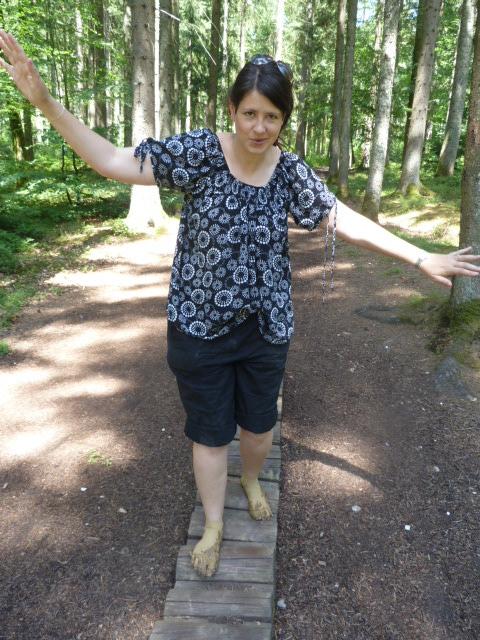 Barefoot park balance challenge, Germany
