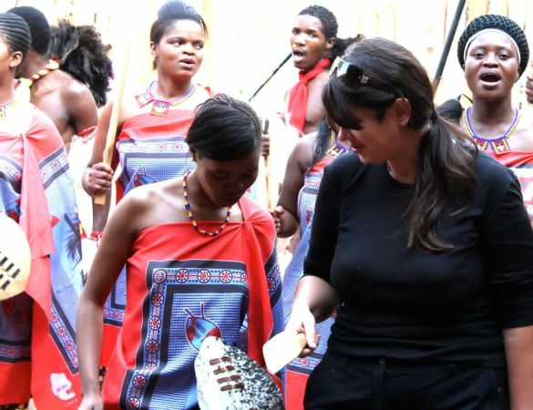 trying my hand at Swazi traditional dancing -Swaziland
