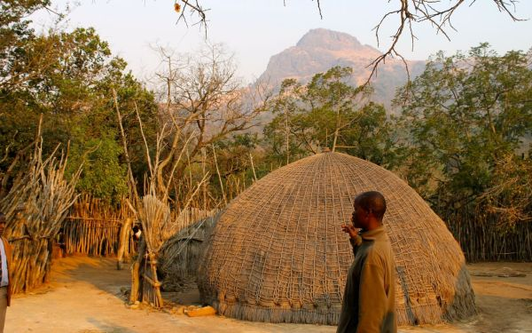 Swazi traditional village in Swaziland