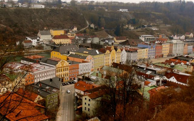 View of the Old Town of Burghausen, Germany