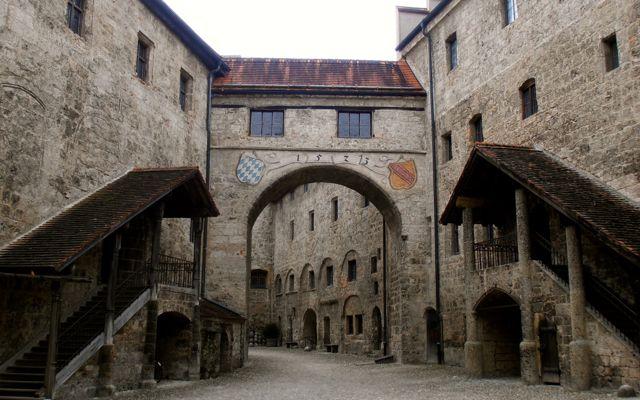 Inner courtyard of Burghausen Castle