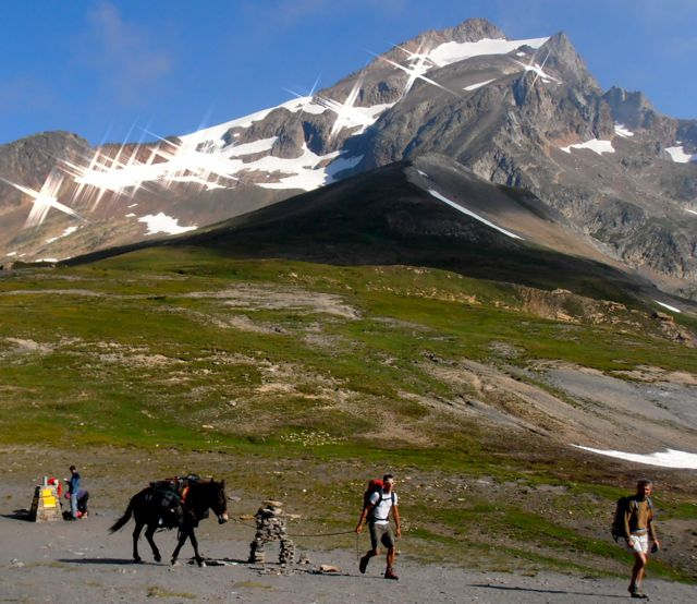 Donkey led tour of the Tour du Mont Blanc (TMB) which goes through France, Italy and Switzerland.