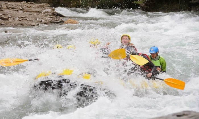 Getting drenched while rafting Class 4 rapids on the Noguera Pallaresa