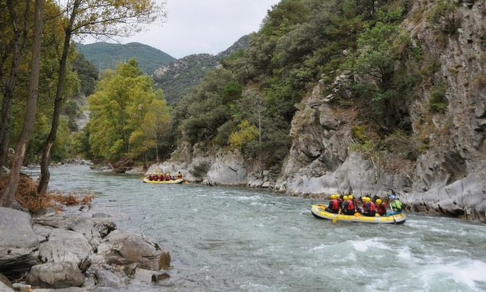 rafting the Noguera Pallaresa River in Catalonia