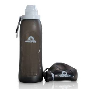 Powerpere collapsible water bottle, great for outdoor adventures, or when travelling