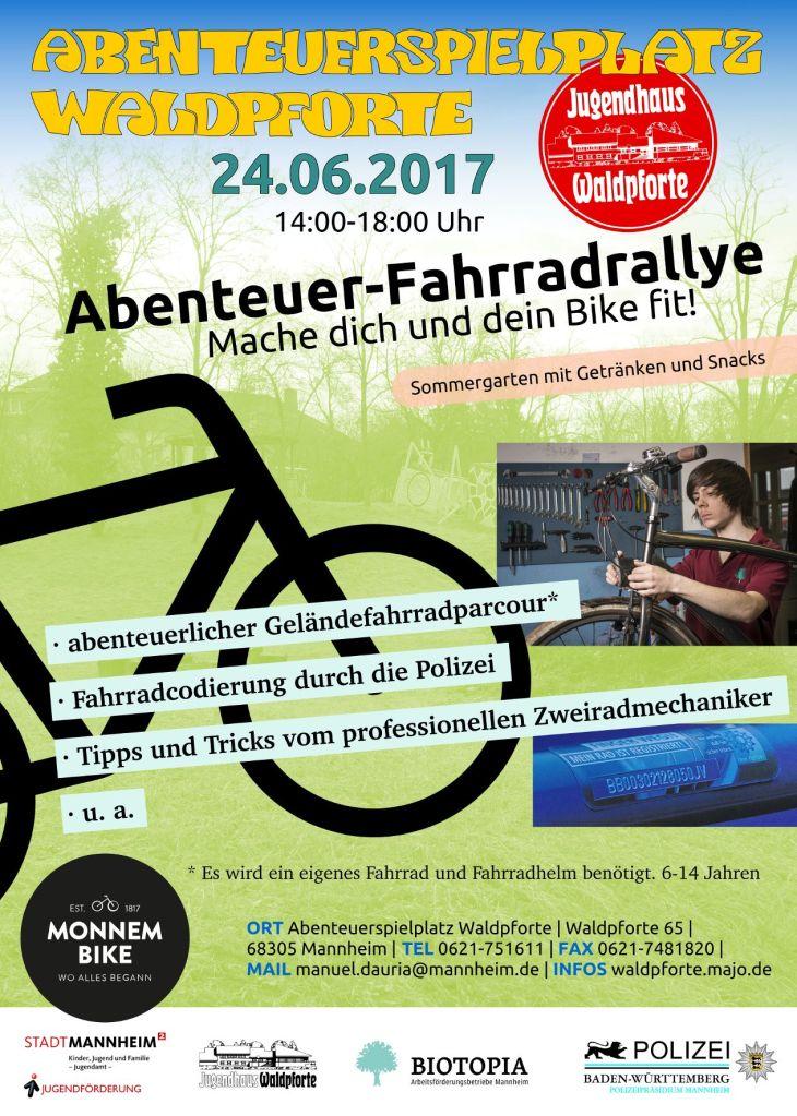 Fahrradrallye 2017 Flyer