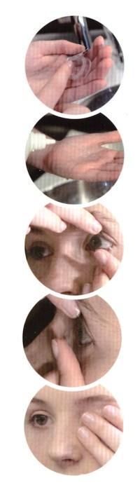 Kako vstaviti kontaktne leče