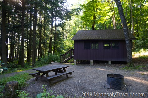 One of the cabins at Lost Lake