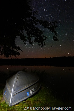 Night sky over Lost Lake