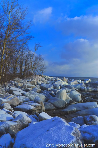 Ice Covered Shoreline of Lake Superior