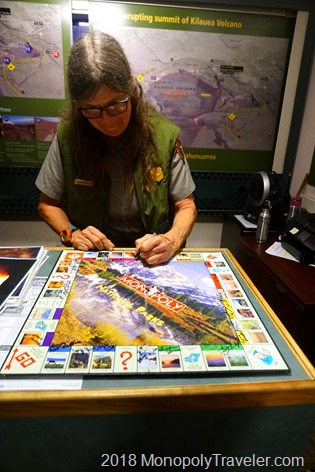 The final signature on our National Parks Monopoly Board
