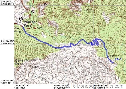 Lost Mine Trail map