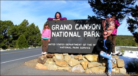 First Entrance Sign to the Grand Canyon