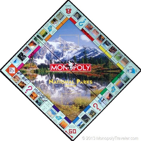 Nat'l Parks Monopoly Board