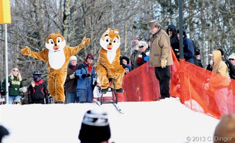 Chip and Dale Barstool Skiing