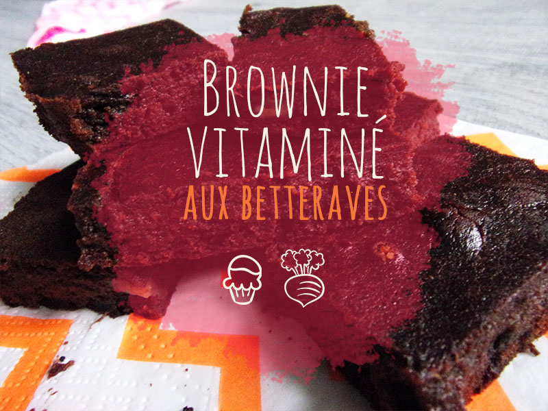 Brownie aux betteraves