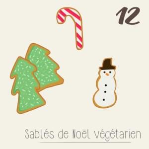calendrier de l'avent 2015 par mon petit balcon jour 12 - sablés de noël végétarien et glaçage coloré aux épinards et framboise