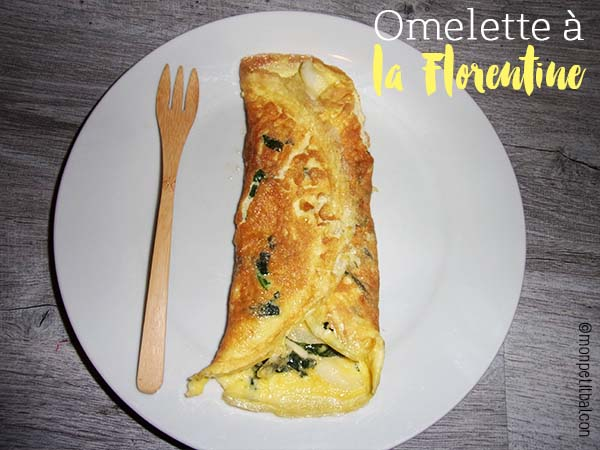 calendrier de l'avent 2015 par mon petit balcon jour 8 - trois recettes aux épinards - omelette à la florentine