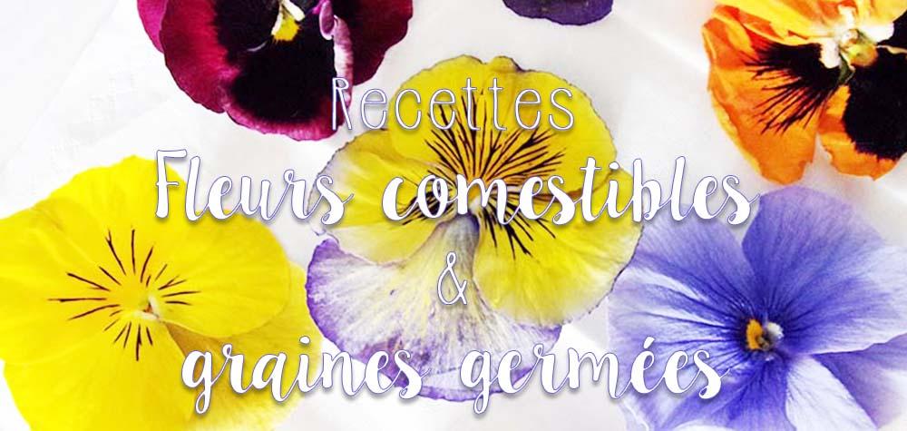 Recette fleurs comestibles et graines germées