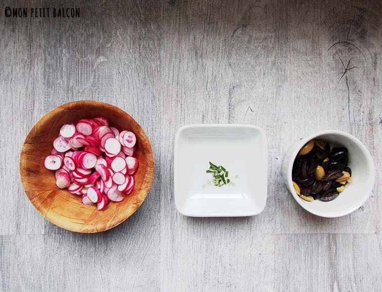 Recette Focaccia au radis et romarin par Mon petit Balcon