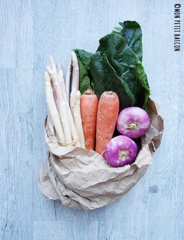 recette de maki aux légumes de printemps navets épinards asperges carottes