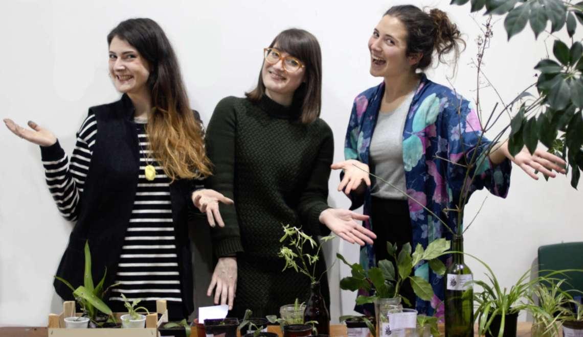 Cécile, Andréa et Giada, les fondatrices du collectif Seeds Brussels
